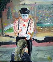 5. Clown met ijs etende  meisje
