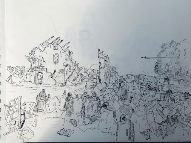 Vernietiging van een stad
